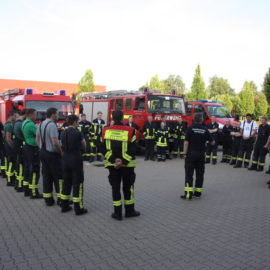 20.06.2017 2. Zug KFB übte auf dem Gelände der Firma Schulz-Systemtechnik in Visbek